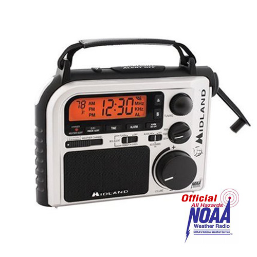 Midland ER102 Emergency Windup Radio with AM/FM and Weather Channels