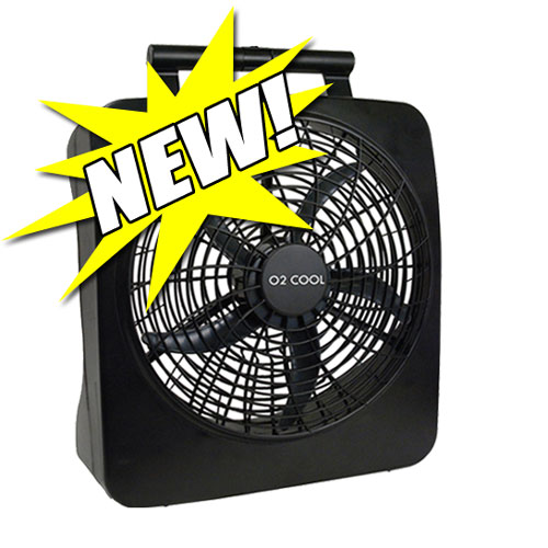 10 Inch Battery Operated Fan by O2Cool