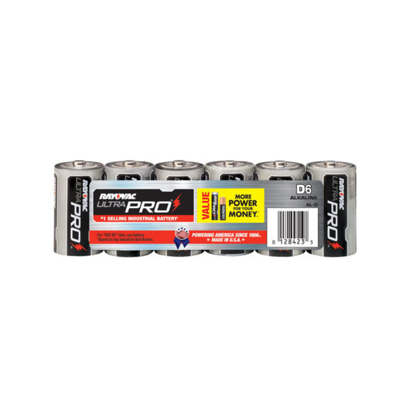 6 Pack D Cell Alkaline Batteries