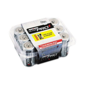 12 Pack C Size Alkaline Batteries