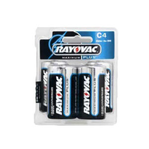 4 Pack C Size Alkaline Batteries