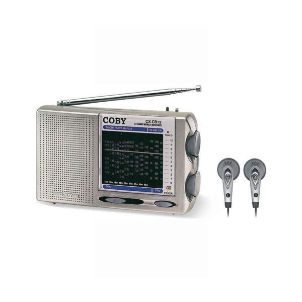 Coby 12 World Band AM/FM/LW/SW Short Wave Radio